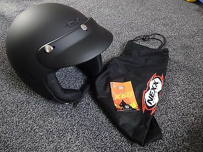 Motorcycle / Scooter Nexx X60 Helmet Matt Black M- 58 Medium Open Face Jet visor