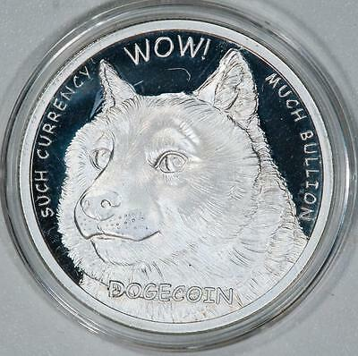 1 Troy oz. Silver Dogecoin in Airtite Case Item#J326
