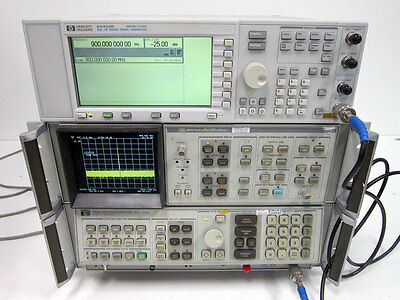 Hp Agilent 8568B 1.5 Ghz Spectrum Analyzer - Color Display 85662A & Cables