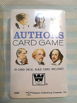 Vintage AUTHORS CARD GAME Whitman #4497 SEALED w/ Case Complete 45-Card Deck