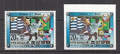 KOREA, 1981 Gold Cup Football Championships, Uruguay, 20c., perf. & imperf., mnh