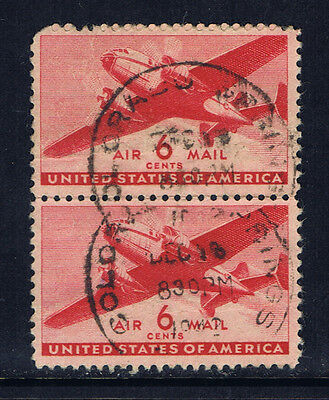 United States #C25(6) 1941 6 cent Twin-Motored Transport Plane COLORADO SPRINGS