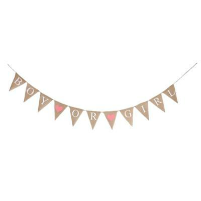 MagiDeal Boy Or Girl Baby Shower Drapeaux suspendus Sexe Reveal Bunting