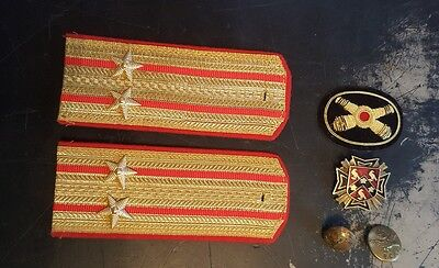 Vintage Foreign Military Army Insignia Badges Buttons Collection Lot Russian UK