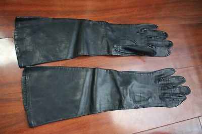 "VTG Duchess LEATHER (rayon lined)  OPERA GLOVES West Germany 14.5"" Long"