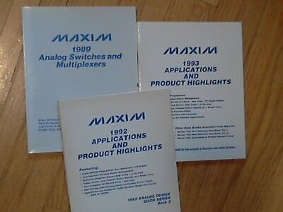 3 MAXIM Data Books '93 '92 Applications Highlights 89 Analog Switches  Multiplex