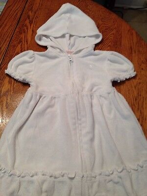 Precious little girl's 3T Old Navy white bathing suit cover-up