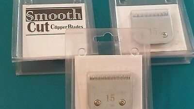 Lot of 3  Horse Grooming Clipper Blades OSTER &  ANDIS size 15 Ceramic