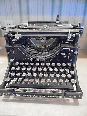 vintage Underwood Standard No. 5 manual desktop typewriter-good
