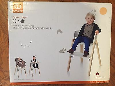 Stokke Steps Chair Baby Seat Transformable Kids Chair In Natural *New In Box*