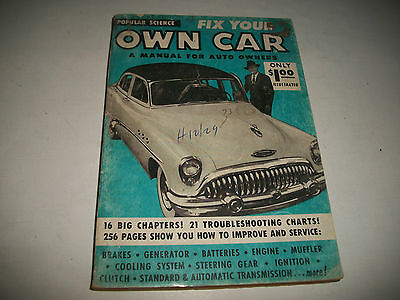 """1954 Popular Science Book Circa 1954 """"fix Your Own Car""""  Cmystore4More"""