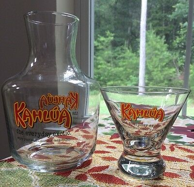 Kahlua The Everyday Exotic Branded Carafe & Lowball Glass - FREE SHIPPING!