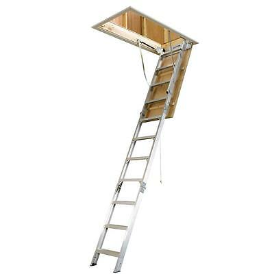 Attic Ladder Aluminum 8-10 ft. 25 x 54 in. 375 lb Load Lightweight Durable Stair