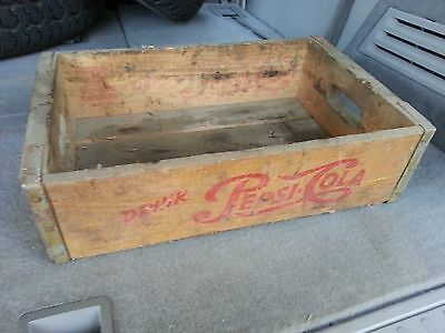 Vintage Pepsi Cola Wooden Crate 1940-50 Style Single Dot Logo Rare, LOOK@