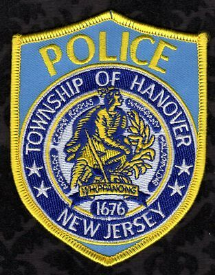Hanover Township New Jersey Police Shoulder Patch   FREE USA SHIPPING