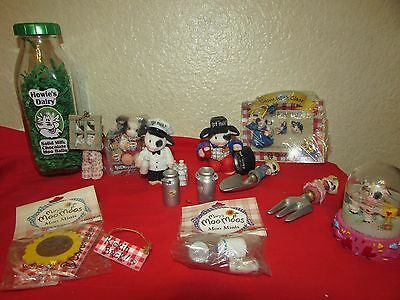 ENESCO MARY'S MOO MOOS COW FIGURINES - LOT OF mixed pieces  pin bottle