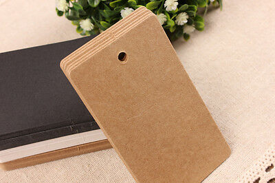 50-1000pc Brown Kraft Gift Tags & Strings Wedding Scallop Label Blank T2