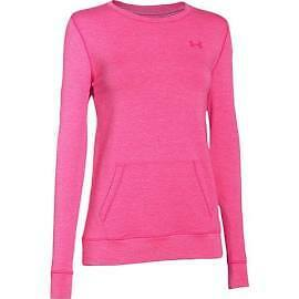 Under Armour 1264094-652 Women's Coldgear Infrared Cozy Crew - Pink - Small
