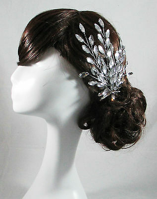 Wedding hair Handmade Rhinestone Diamante Crystal Headpiece Hair Clip Bridal