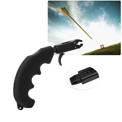 Light Portable Black Thumb Bow Trigger Archery Bow Release Grip Aid for Compound