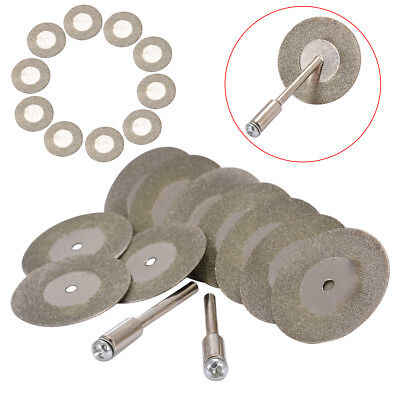 10pcs 30mm Durable Mini Diamond Cut Discs Craft Rotary Tool Arbor for Drill Tool