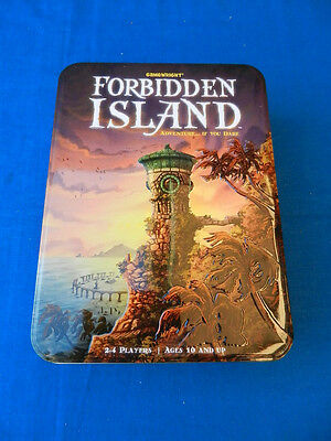 FORBIDDEN ISLAND Vintage BOARD GAME in Tin Gameswright 2010