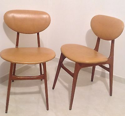 2 rare Sedie Design Danese anni 50' 60' Giò Ponti Danish Chairs Borsani Swedish