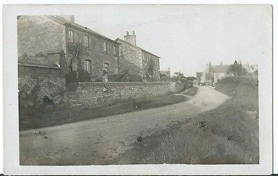 Wellington Nr Taunton Lady outside House in Lane RP Unused