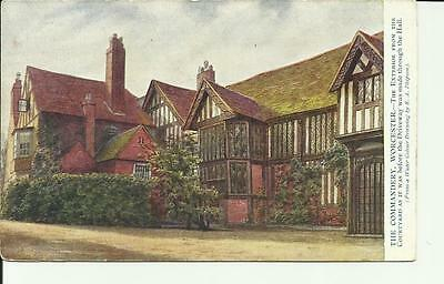 The Commandery, Worcester.the Exterior From The Courtyard..   Vintage Postcard.