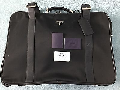 PRADA V410/A Suitcase Travel Bag With Trolley Wheel
