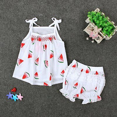 2PS Toddler Kids Baby Girls Summer Clothes T-shirt Tops+Shorts Pants Outfit Set{
