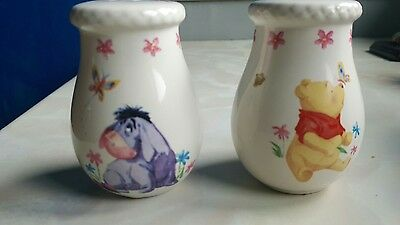 winnie the pooh and eeyore salt and pepper shakers(ceramic)