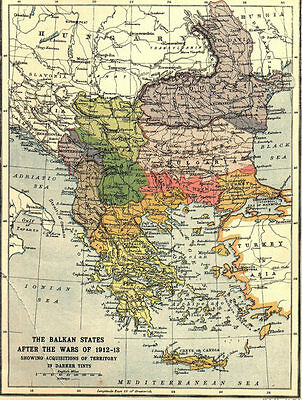 8x6 Photo ww1DB3 World War 1 Map Showing The Balkan States 1912 1300 1 4