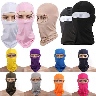 Full Face Mask lycra Balaclava Ultra-thin Sports Motorcycle Protecting Ski Neck