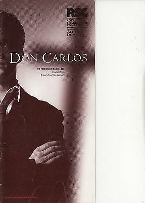 2000 Barbican Theatre Programme - DON CARLOS - RUPERT PENRY-JONES