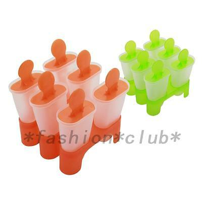 6 Cells Popsicle Mold Ice-Cream Maker Tray Pan Kitchen Frozen Lolly Mould Hot