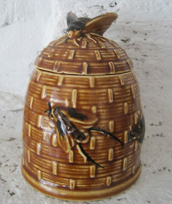 Lovely Vintage Pottery Honey Pot Bee On Beehive design