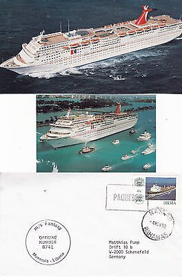 Bahamas Cruise Ship Ms Fantasy A Ships Cached Cover & 2 Magazine Pictures