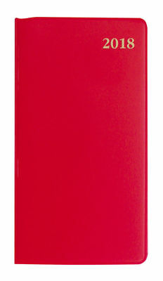 Diary 2018 Debden Belmont Colours Red Slimline Portrait Week to View 377P 18x9cm
