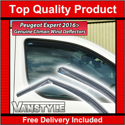 Peugeot Expert 2016+ Genuine Climair Front Wind Deflectors Window Smoked