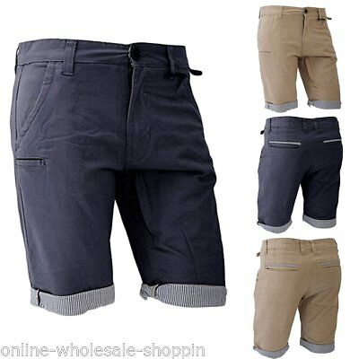 55e0fdf4a6 Mens Brave Soul Cargo Combat Casual Chino Pants Cotton Shorts Summer  Bottoms S M
