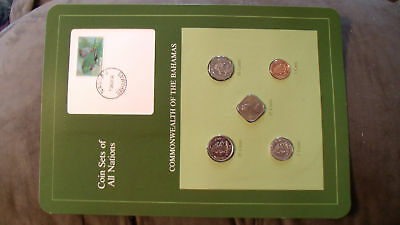 Coin Sets of All Nations Bahamas w/card 1969 - 1985 UNC fish 10 cent 1982