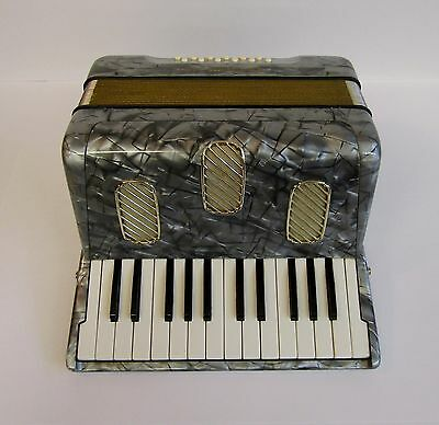 "Vintage 1950's Hohner ""Camillo Jr"" German Accordion * Lively Sound * Plays Well"
