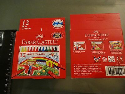Faber Castell Thin Wax Crayons