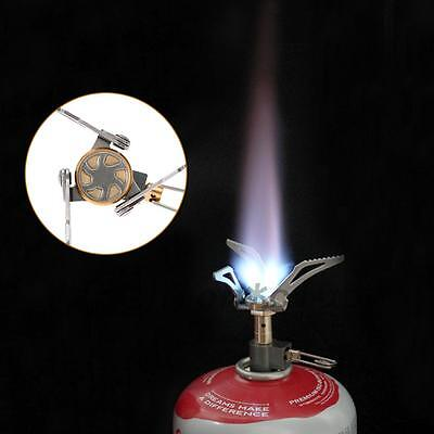 Outdoor Camping Stainless Steel Stove Gas Furnace Burner Picnic Cookout Useful