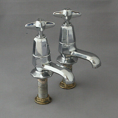 Art Deco Chrome Basin Taps