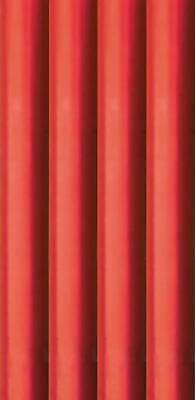 8m Metallic Foil effect Gift Wrapping Paper - 4x2m Roll of Plain Red - Xmas