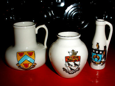 Crested China Lot X 3