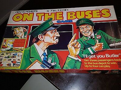 Vintage 'On The Buses' Board Game by Toltoys