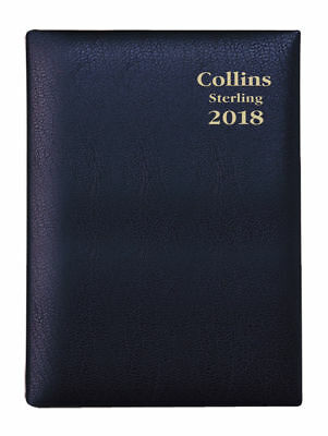 Diary 2018 Debden Collins Sterling Black B7R Day to Page 153.P99 12.5x8cm